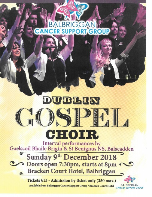 Dublin Gospel Choir, Balbriggan Cancer Support Group